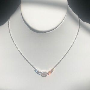 Nadri Zelda Mother of Pearl/Crystal Necklace